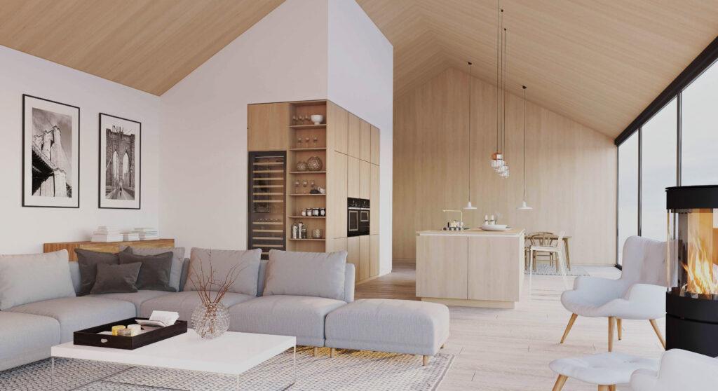 lemn casa stil scandinav
